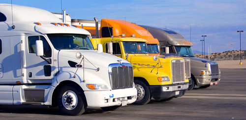 distributor fleet of trucks