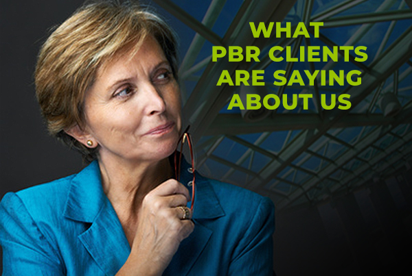 PBR client thinking about great training session she experienced